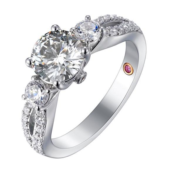 Three Stone Ring with Split Shank