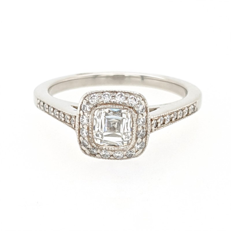 Tiffany Platinum Diamond Ring