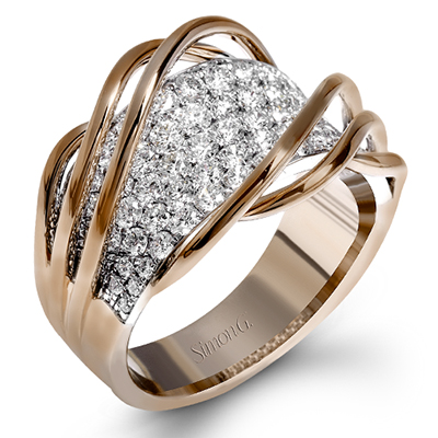 Arches Over Diamonds Ring