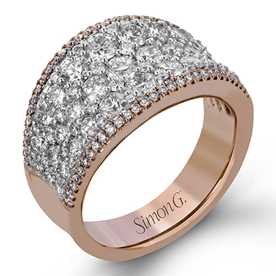 Pink Diamond Pave Ring