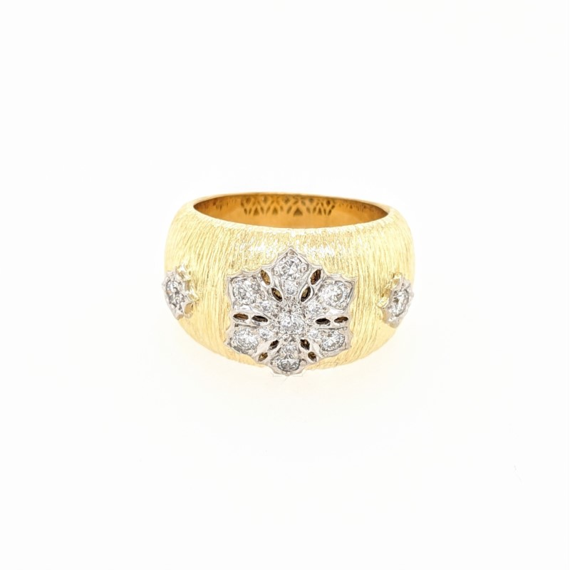 Diamond Floral Design Ring
