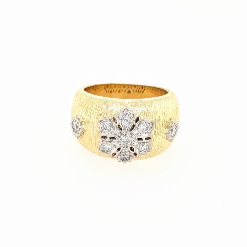 Diamond Floral Design Ring