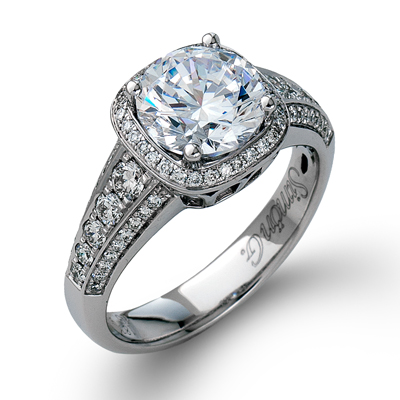 Cushion Shaped Halo Ring