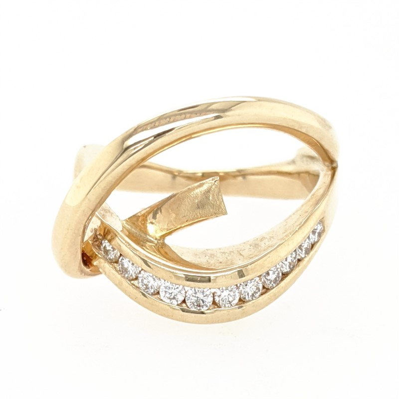 Freeform Diamond Ring Mounting