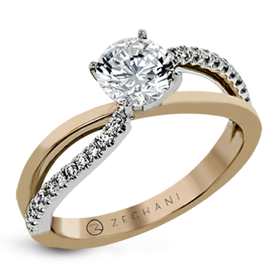 Crossing Diamond Ring