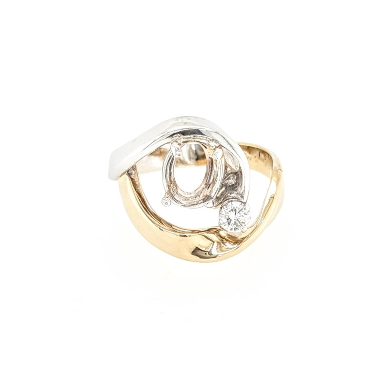 Ambleside Waves Semi-Mount Ring