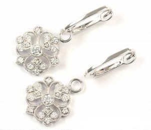 Floral Filigree Diamond Earrings
