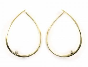 Diamond Open Drop Earrings