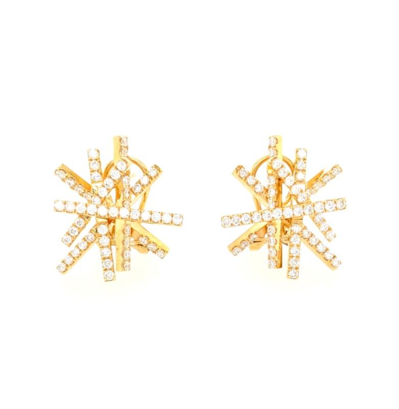 Multi Bar Diamond Earrings