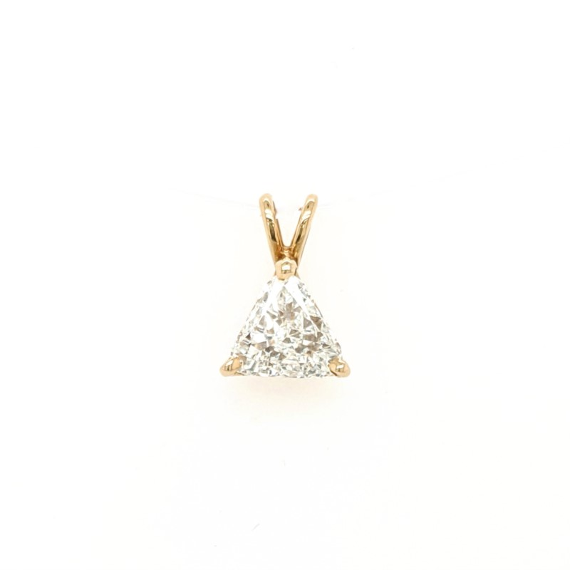 Trillion Diamond Solitaire Pendant