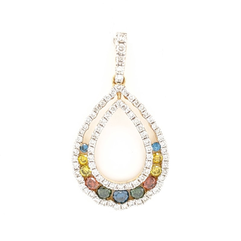 Multi Colored Diamond Pendant