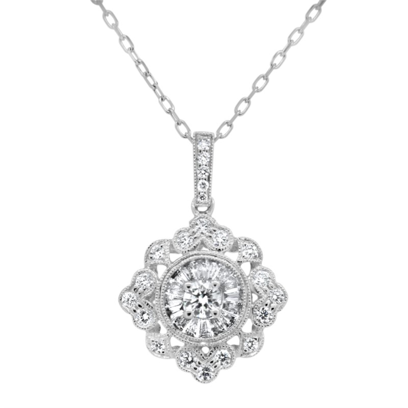 Vintage Style Diamond Necklace