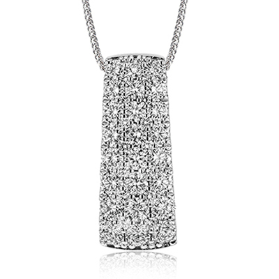 Pave Slide Necklace