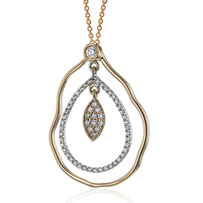 Organic Style Diamond Necklace