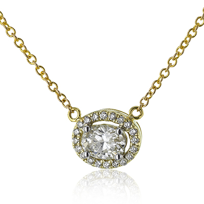 Oval Diamond Necklace