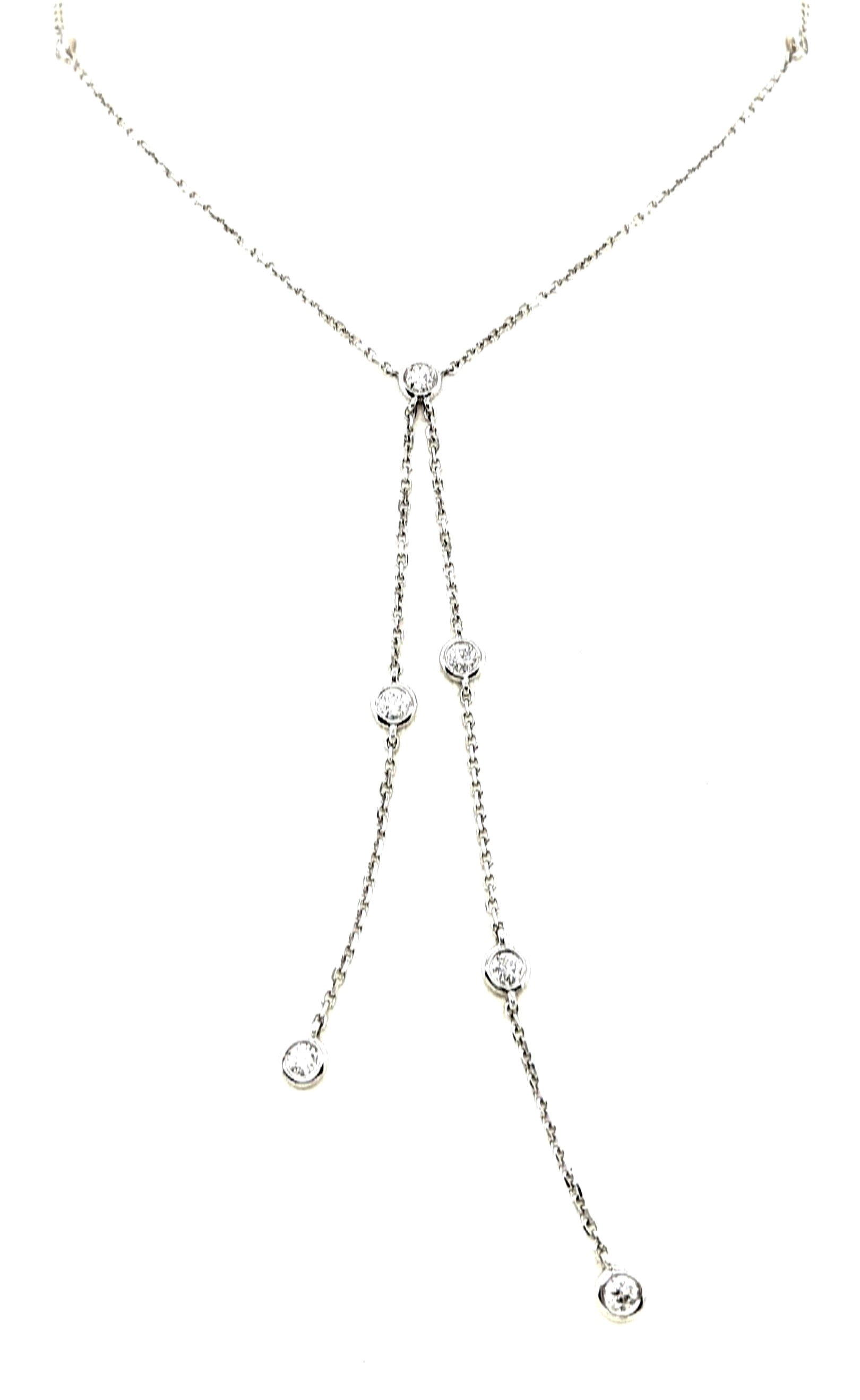 Diamond Y Necklace