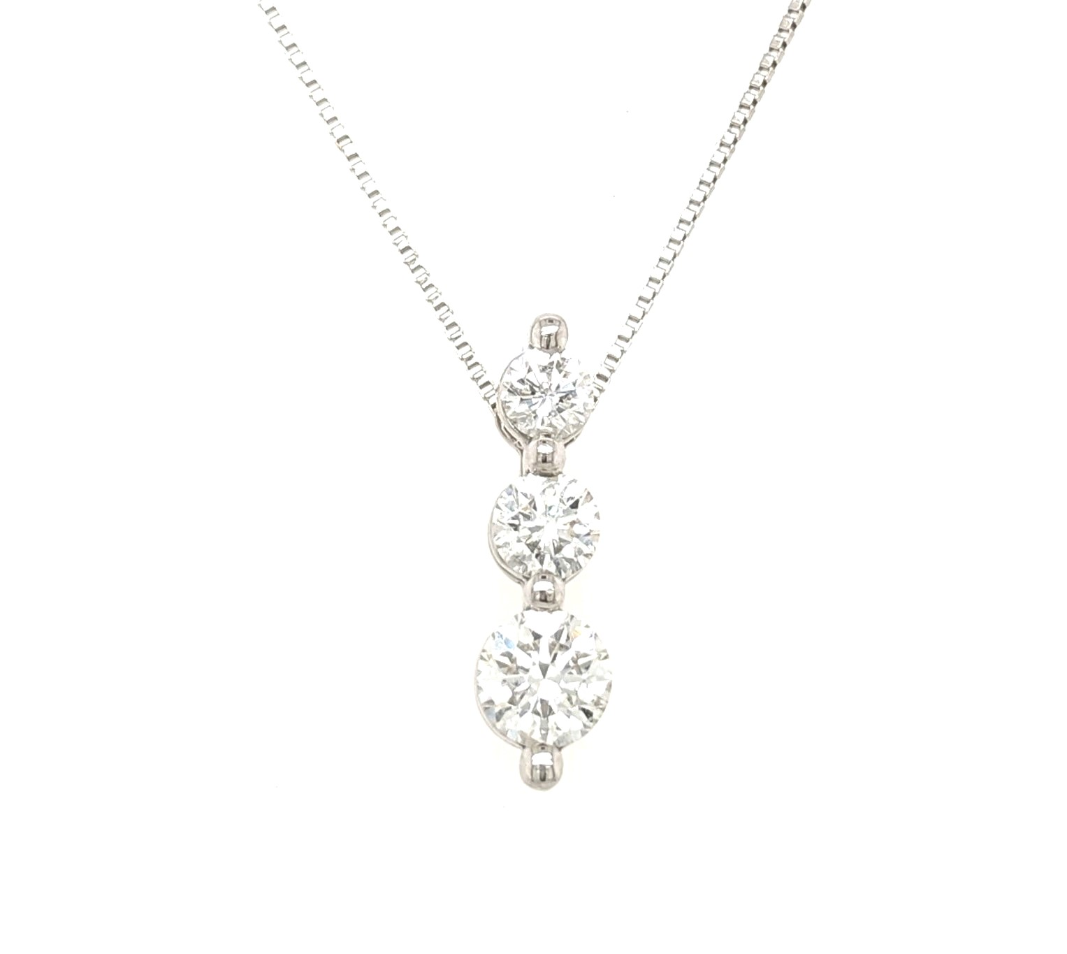 Three Stone Diamond Necklace