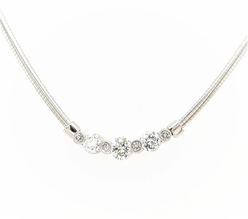 Diamond Omega Necklace