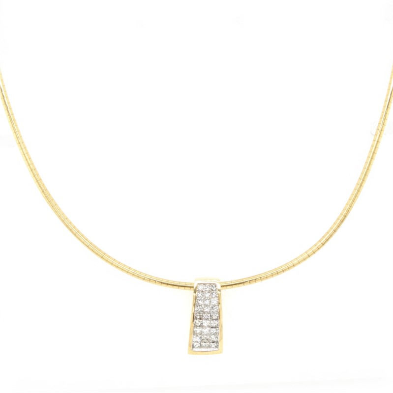 Diamond Slide Omega Necklace