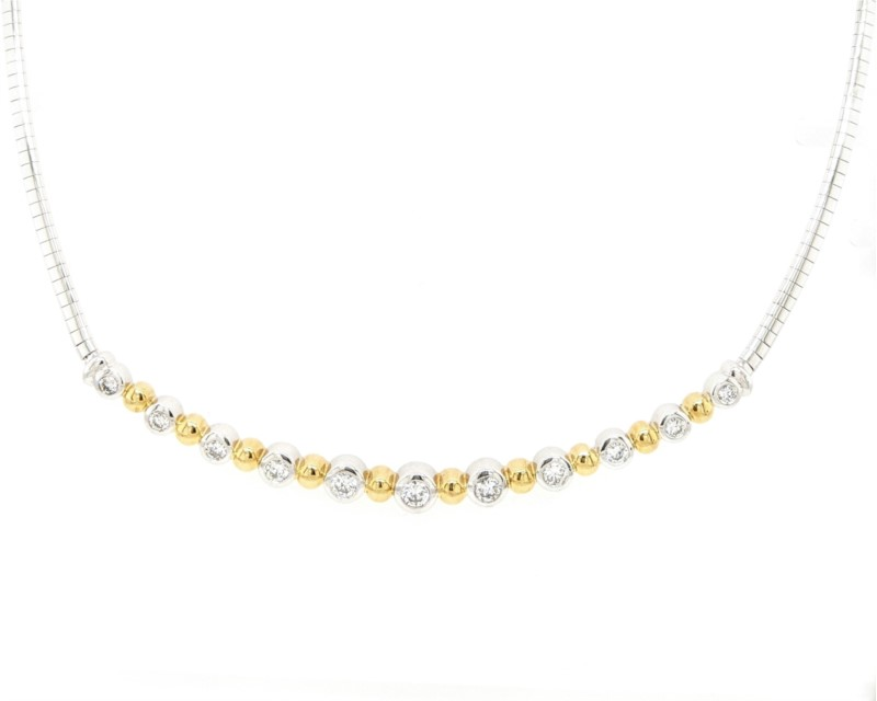 Diamond Bezel Omega Necklace