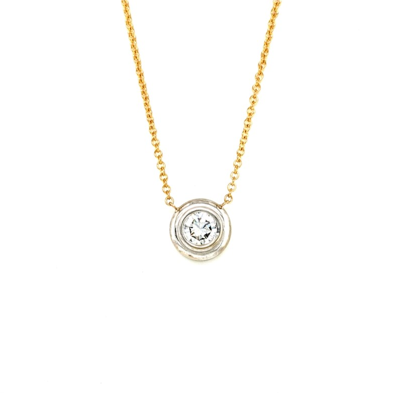Bezel Set Diamond Necklace