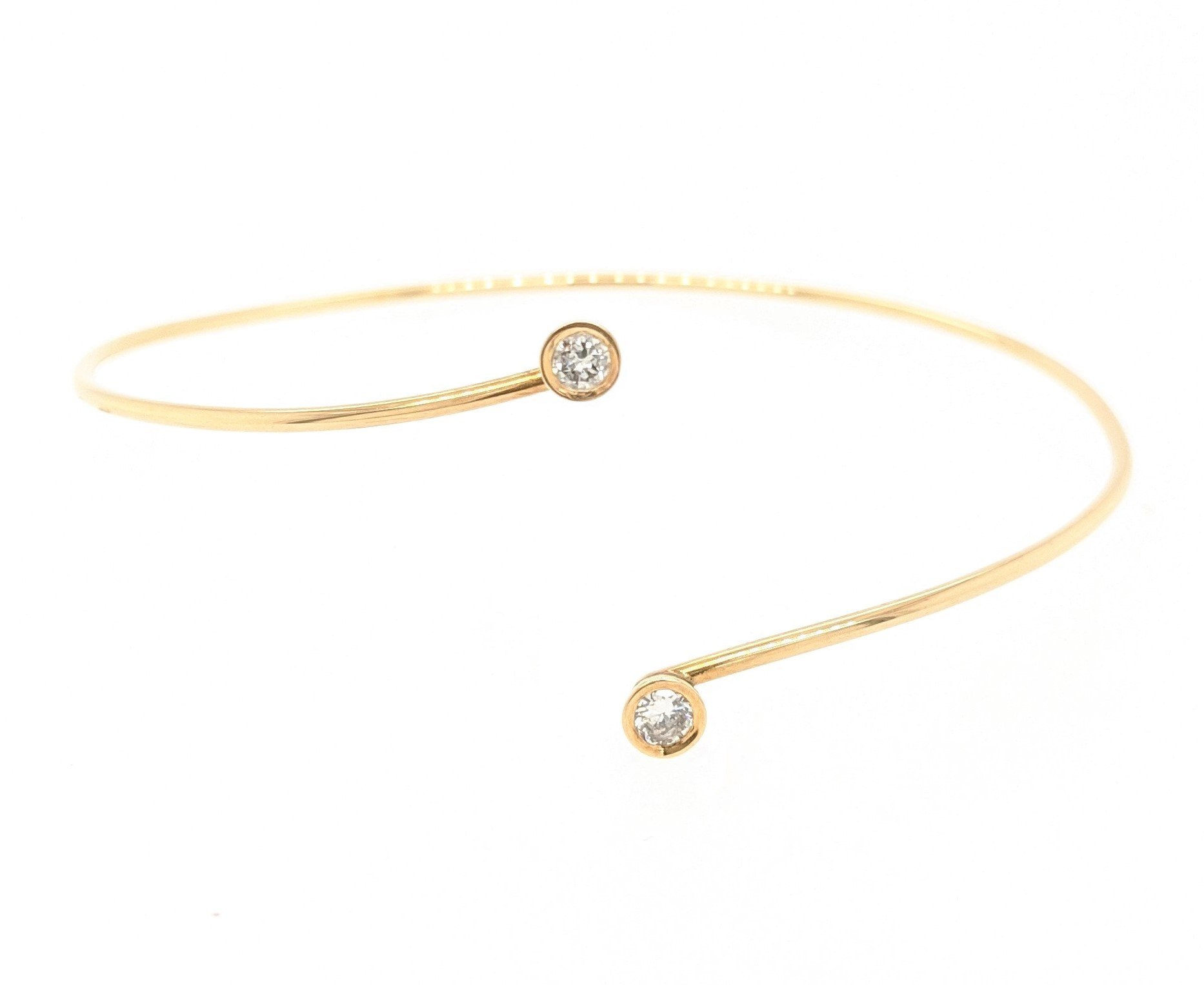 Bypass Diamond Bangle