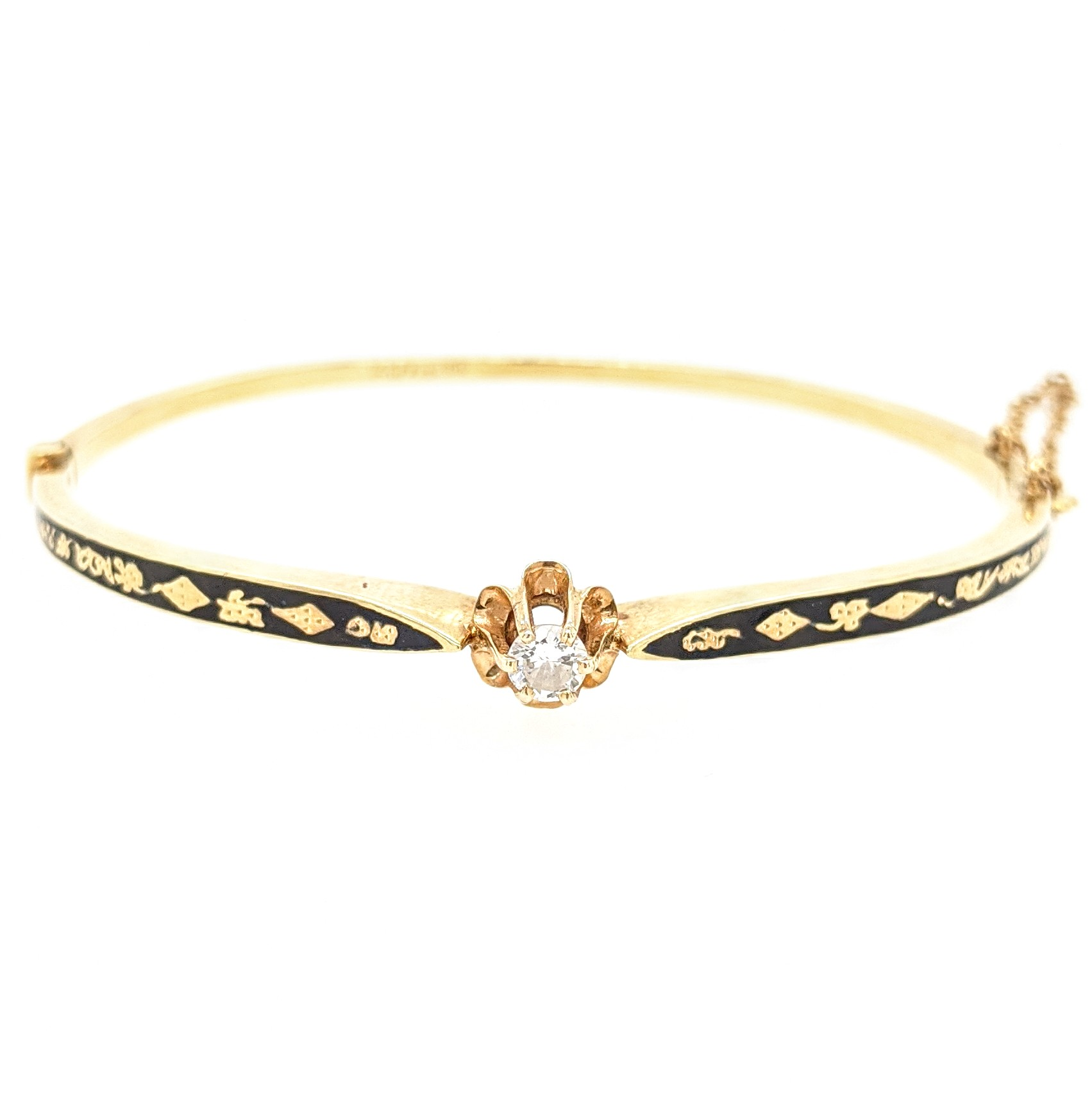 Enamel Diamond Bangle