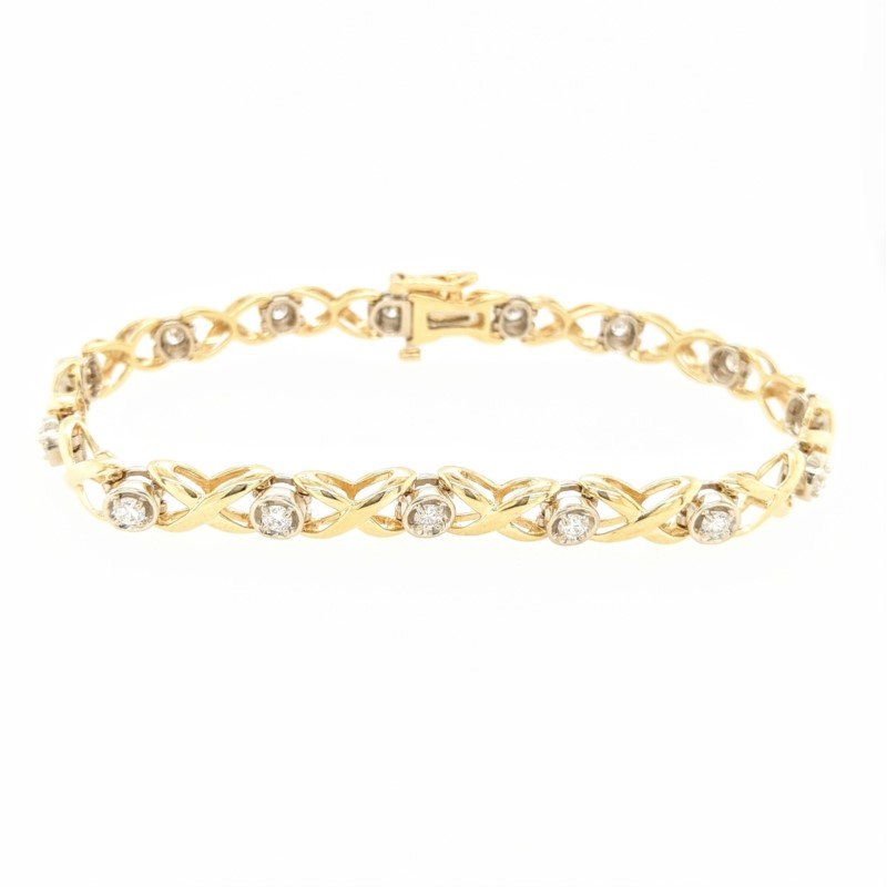 X and O Diamond Bracelet