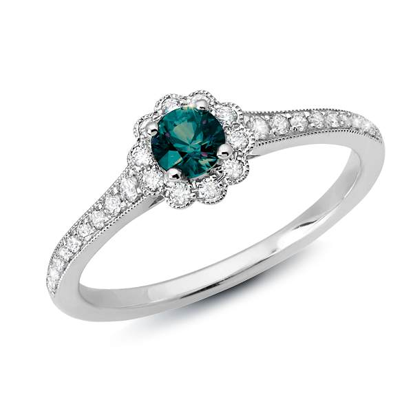 Alexandrite and Diamond Ring