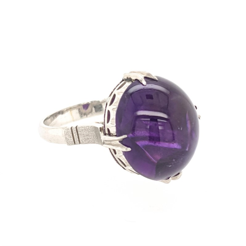 Platinum Amethyst Ring