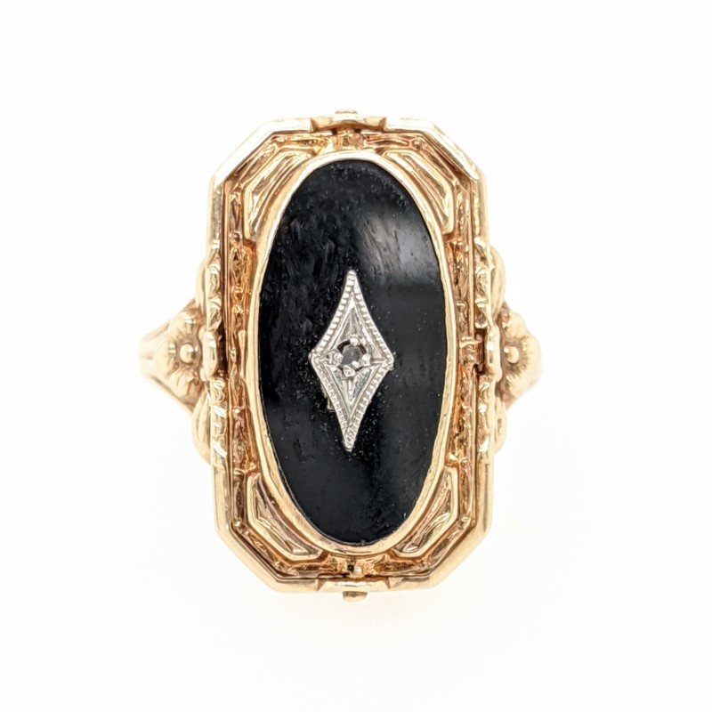 Onyx & Cameo Reversible Ring