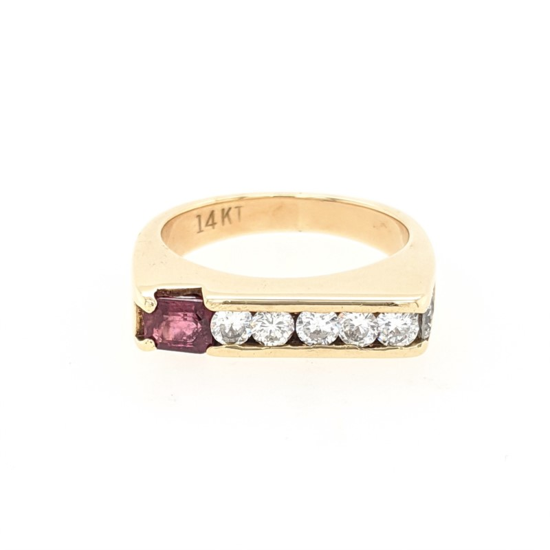 Ruby & Diamond Channel Ring