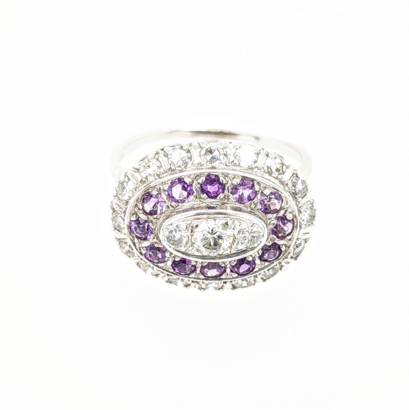 Diamond & Amethyst Ring