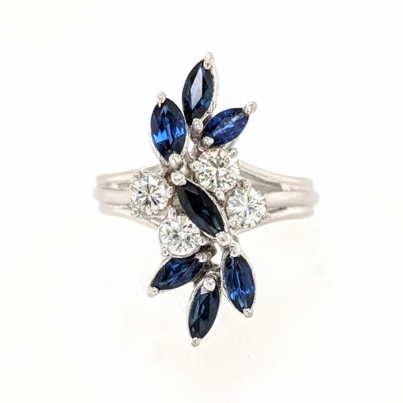 Marquise Sapphire & Diamond Ring