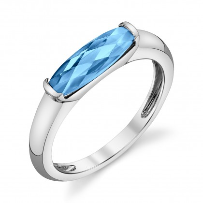 Blue Topaz Bar Ring