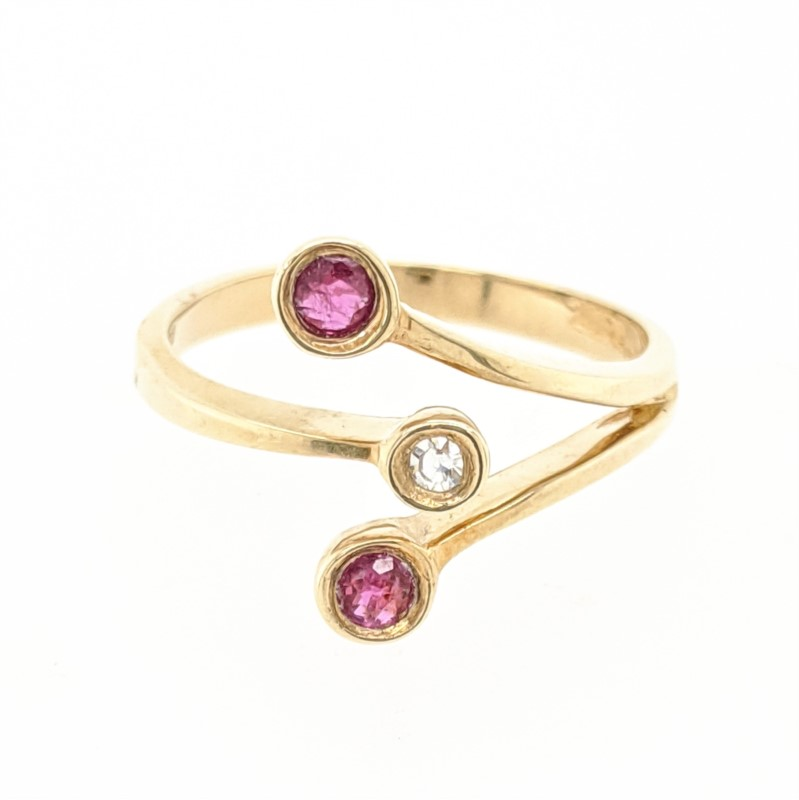 Bypass Ruby & Diamond Ring