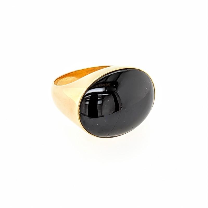 Dark Purple Star Sapphire Ring