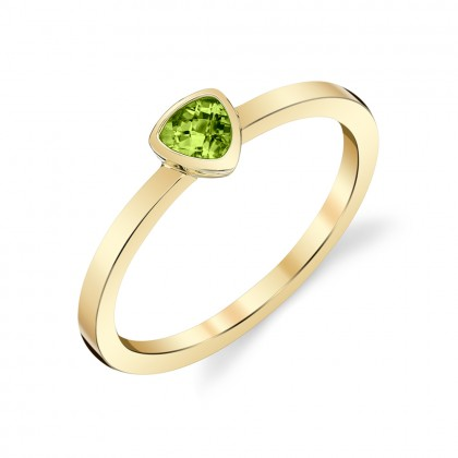 Trillion Peridot Ring