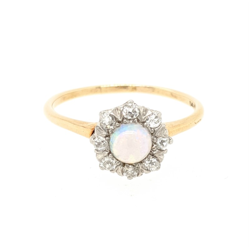Opal and Diamond Antique Ring