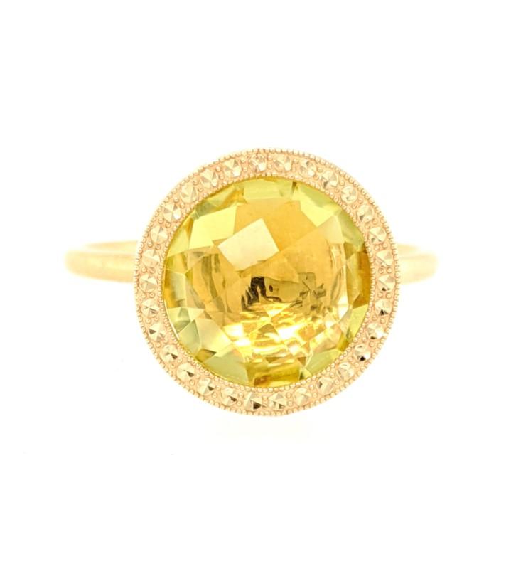 Citrine Bezel Ring