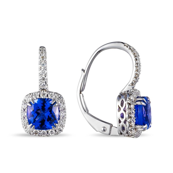 Tanzanite & Diamond Earrings