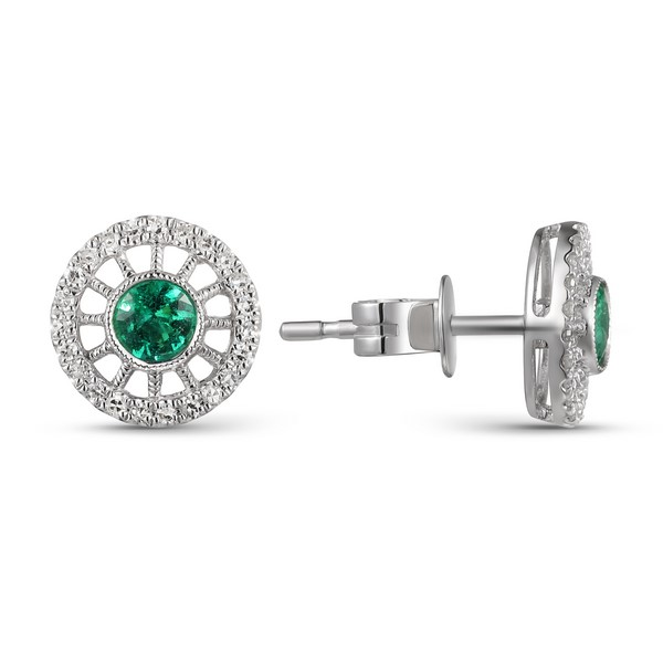 Vintage Inspired Emerald Earrrings