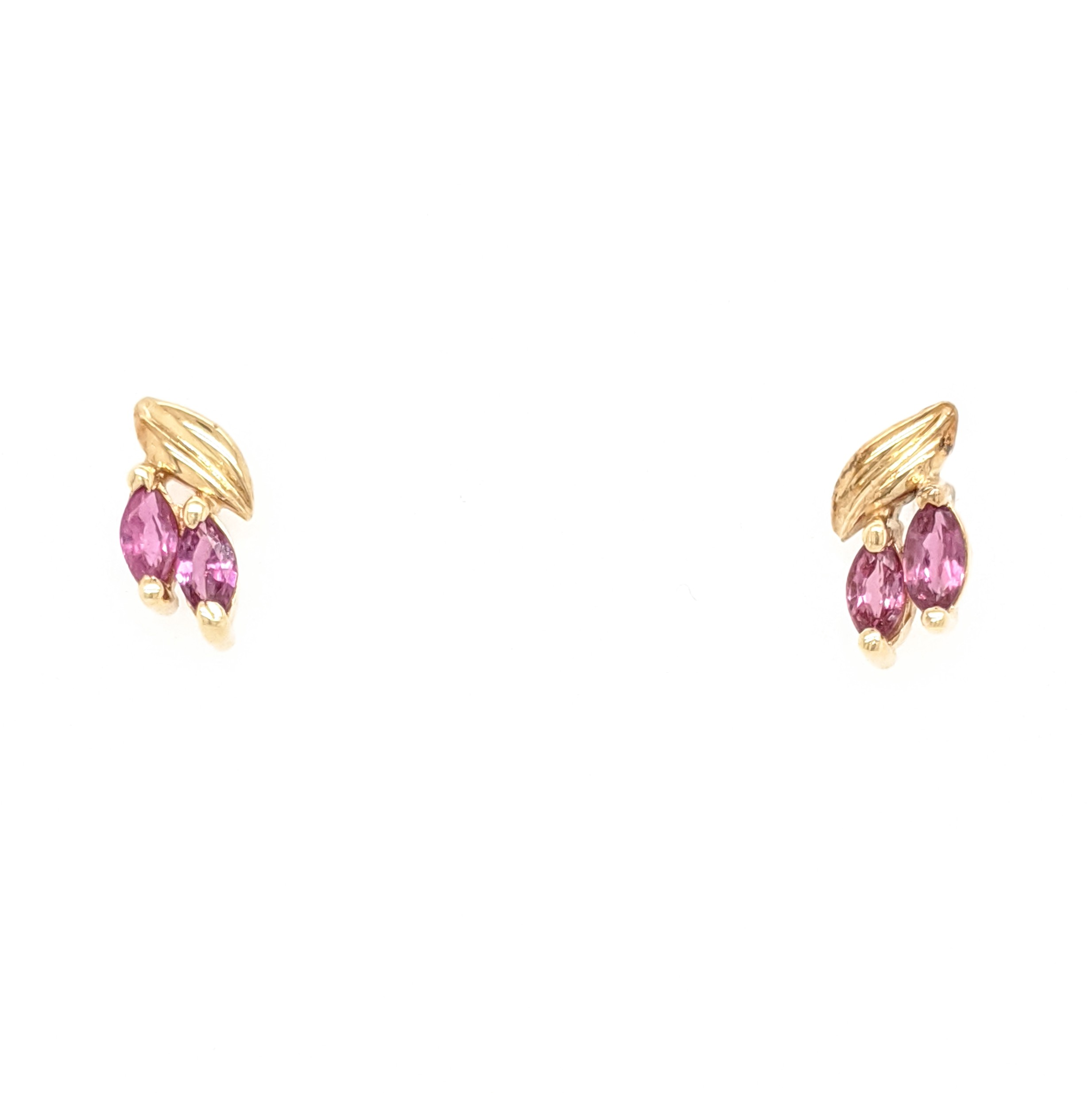 Marquise Ruby Stud Earrings
