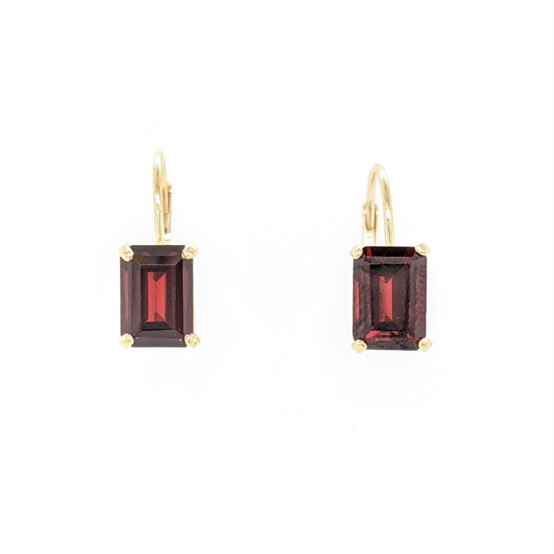 Garnet Lever Back Earrings