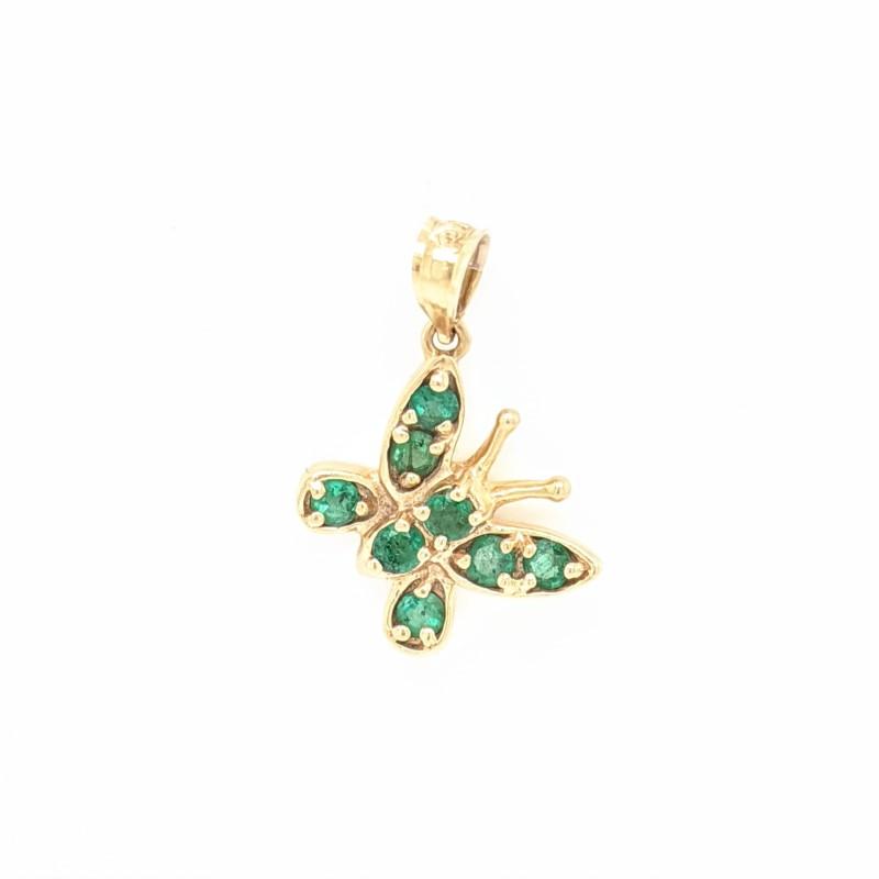 Emerald Butterfly Pendant