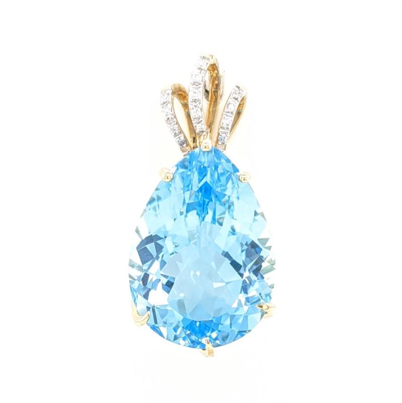 Pear Blue Topaz Pendant