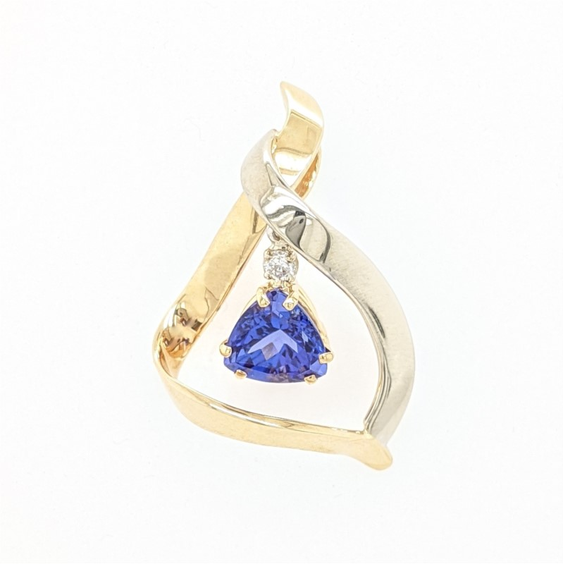 Two Tone Tanzanite Pendant