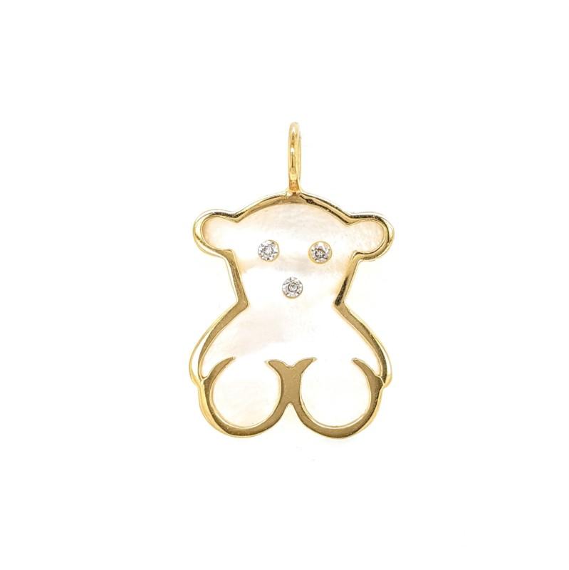 Pearl Bear Pendant
