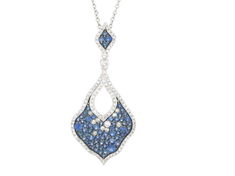 Sapphire & Diamond Lavalier Necklace