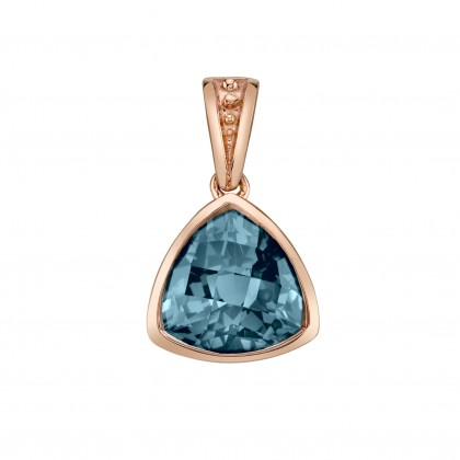 Trillion Blue Topaz Necklace